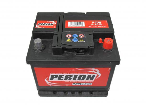 Perion autó akkumulátor akku 12v 41ah jobb+