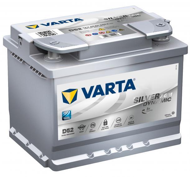 Varta Silver Dynamic AGM 12V 60Ah jobb+ autó akkumulátor