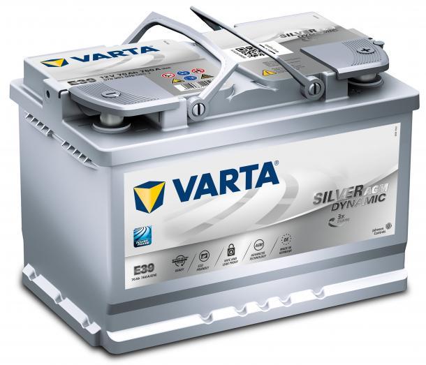 Varta Silver Dynamic AGM 12V 70Ah jobb+ autó akkumulátor akku