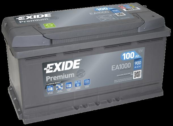 EXIDE Premium 12V 100Ah 900A jobb+ autó akkumulátor