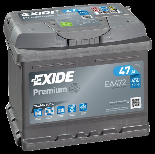 EXIDE Premium 12V 47Ah 450A jobb+ autó akkumulátor akku