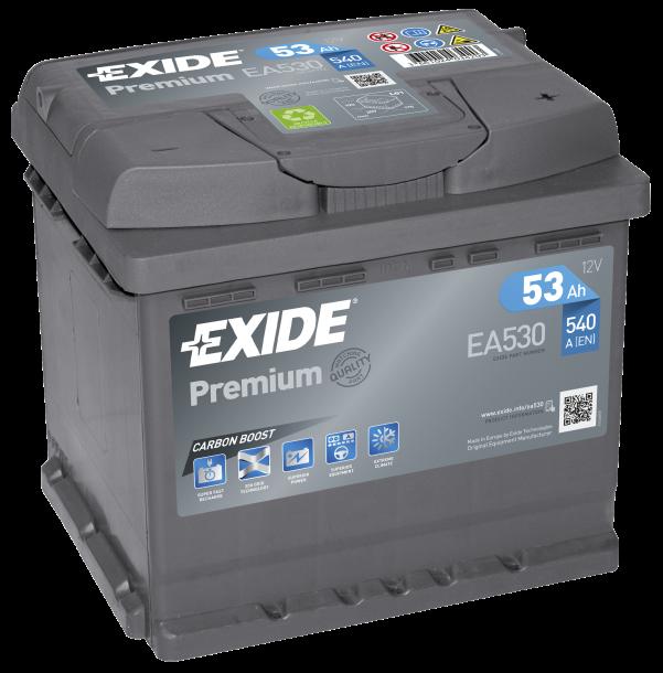 EXIDE Premium 12V 53Ah 540A jobb+ autó akkumulátor akku