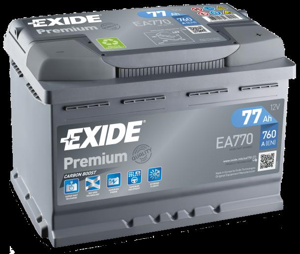 EXIDE Premium 12V 77Ah 760A jobb+ autó akkumulátor akku