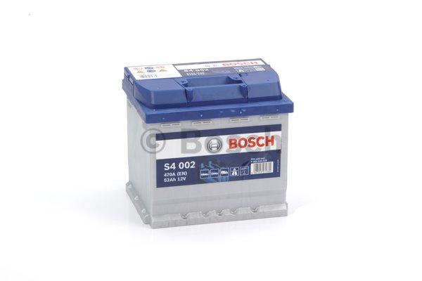Bosch S4 akkumulátor 12v 52ah jobb+