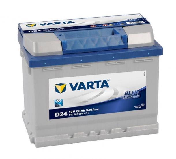 Varta Blue Dynamic 12V 60Ah jobb+ magas kivitel autó akkumulátor akku