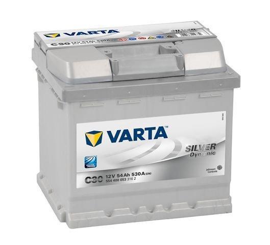 Varta Silver Dynamic akkumulátor 12v 54ah 530A jobb+