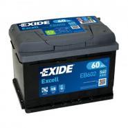 EXIDE Excell 12V 60Ah 540A jobb+ autó akkumulátor akku