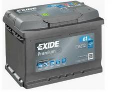 EXIDE Premium 12V 61Ah 600A jobb+ autó akkumulátor akku